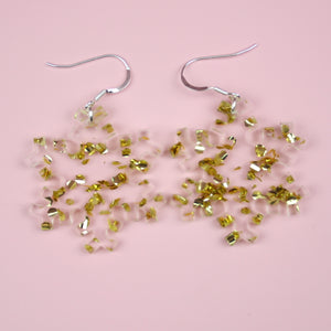 Load image into Gallery viewer, Gold Foil Snowflake Earrings