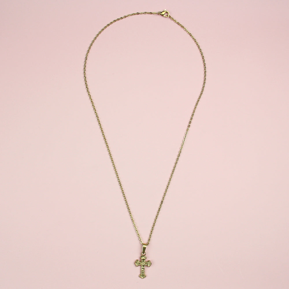 Load image into Gallery viewer, Crucifix Necklace (Gold Plated)