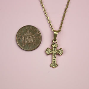 Crucifix Necklace (Gold Plated)