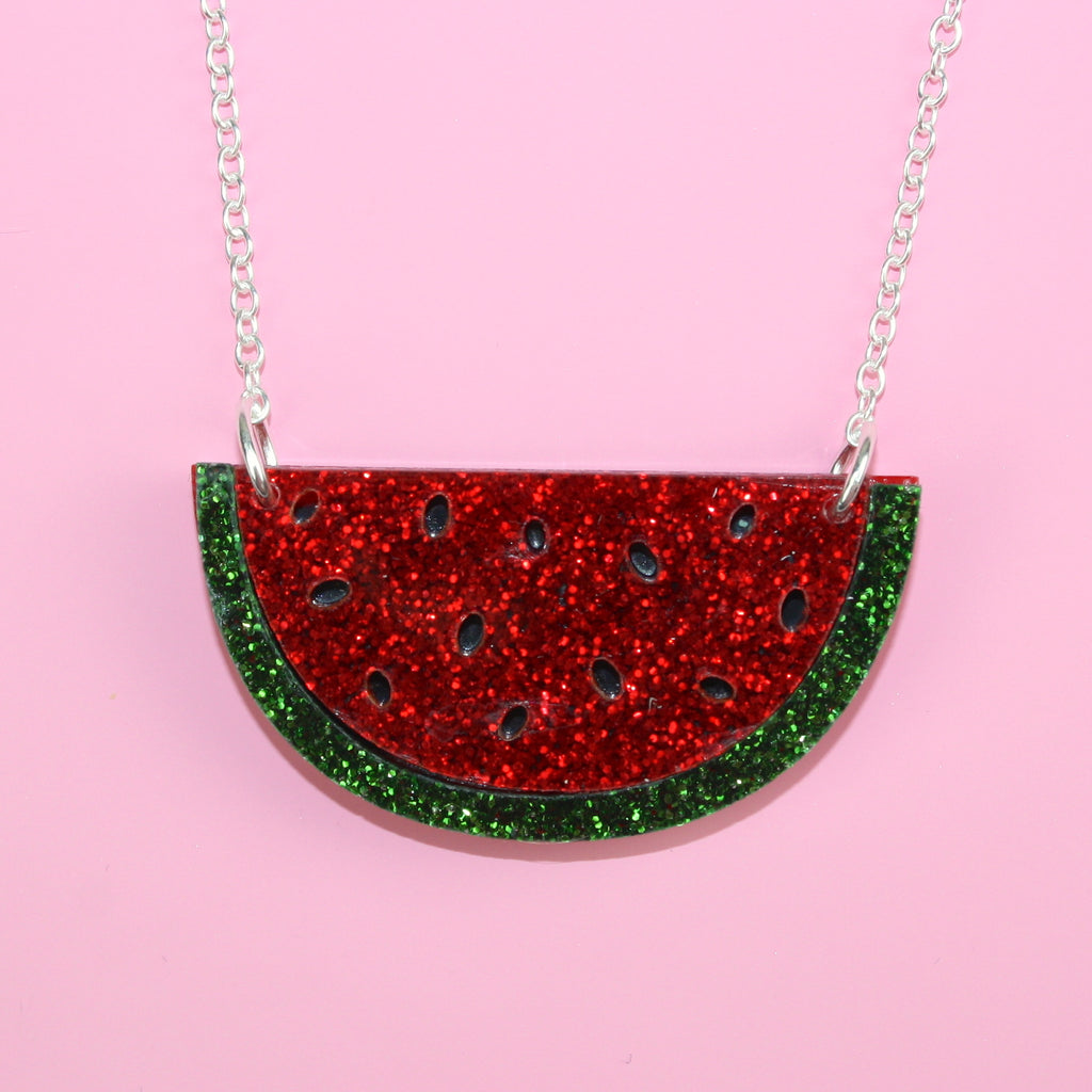 Watermelon Necklace - Sour Cherry