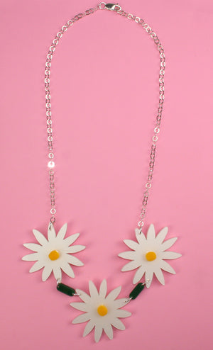 Daisy Chain Necklace - Sour Cherry