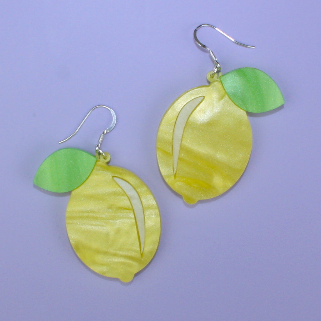 Easy Peasy Lemon Squeezy Earrings - Sour Cherry