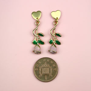Load image into Gallery viewer, Pink Enchanted Rose Earrings
