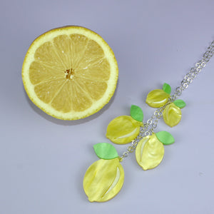 Easy Peasy Lemon Squeezy Necklace - Sour Cherry