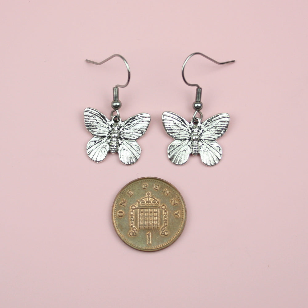 Detailed Butterfly Earrings