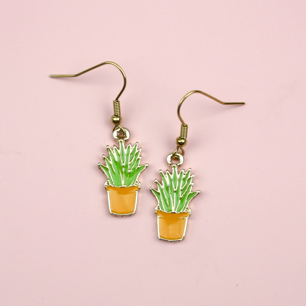 Succulent Earrings - Sour Cherry