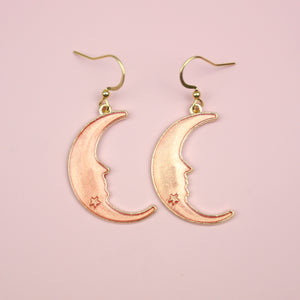 Load image into Gallery viewer, Peach Moon Earrings