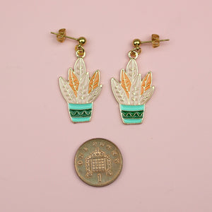Load image into Gallery viewer, House Plant Earrings