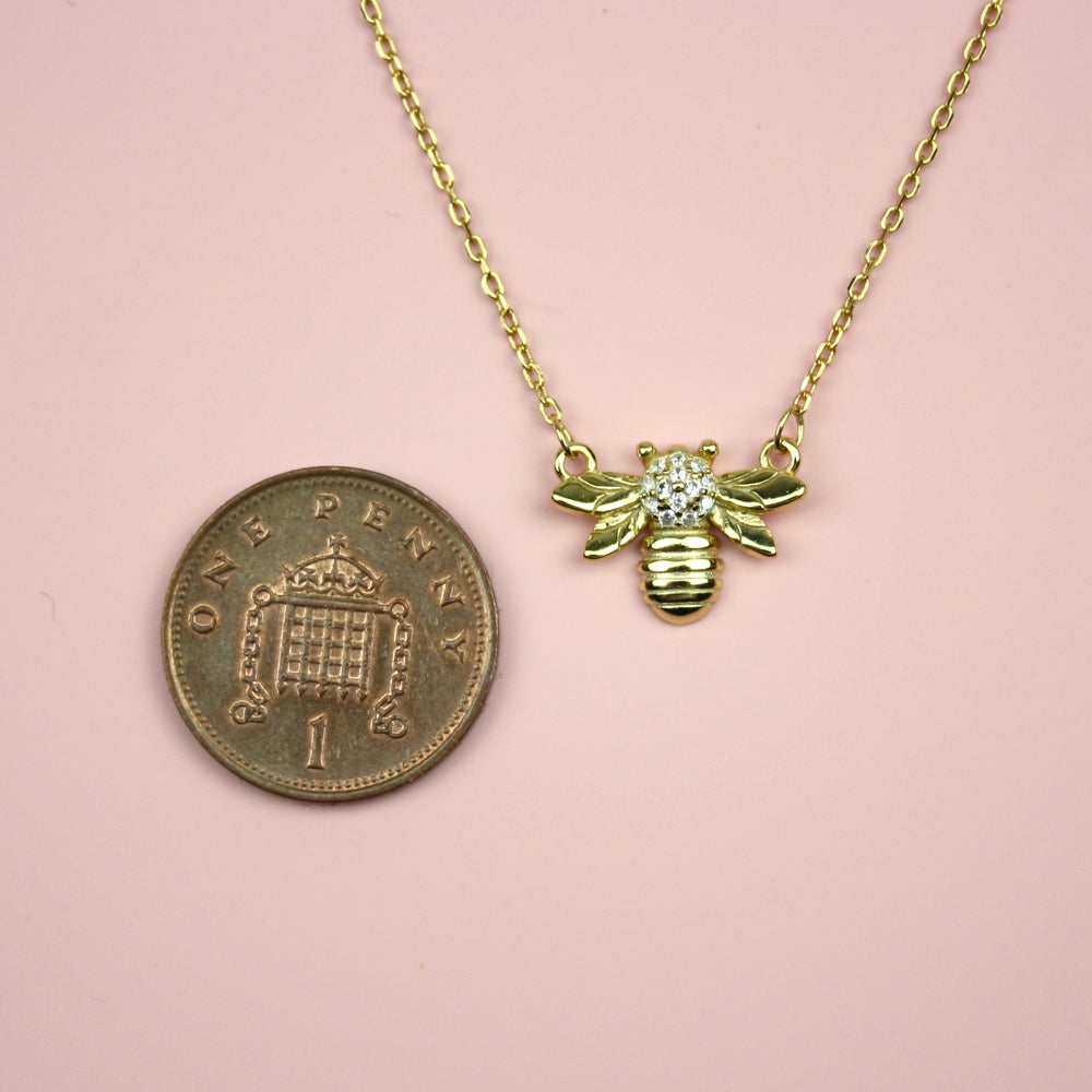 Load image into Gallery viewer, Honey Bee Necklace