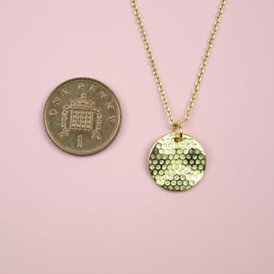 Honeycomb Disk Necklace