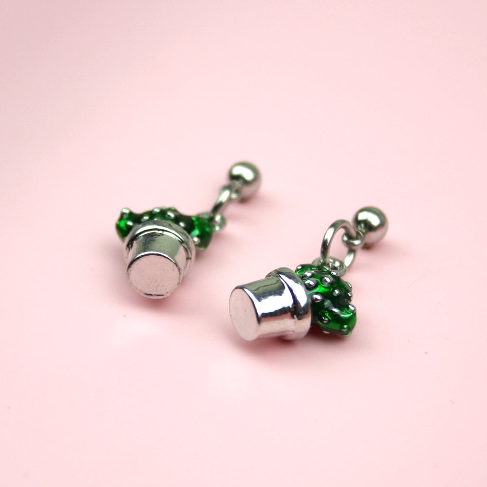 Mini Cacti Stud Earrings