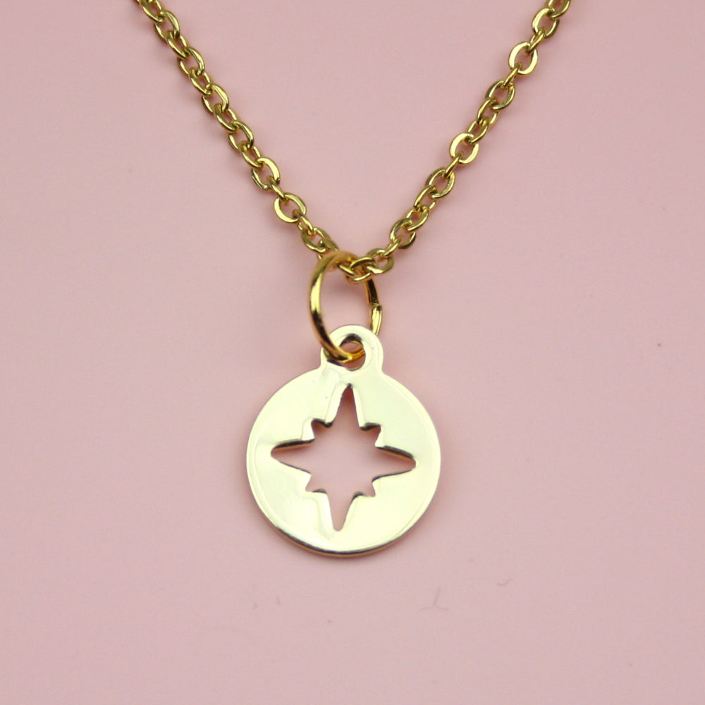 Compass Necklace (Gold Plated)