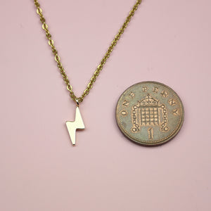 Load image into Gallery viewer, Lightning Bolt Necklace (Gold Plated)