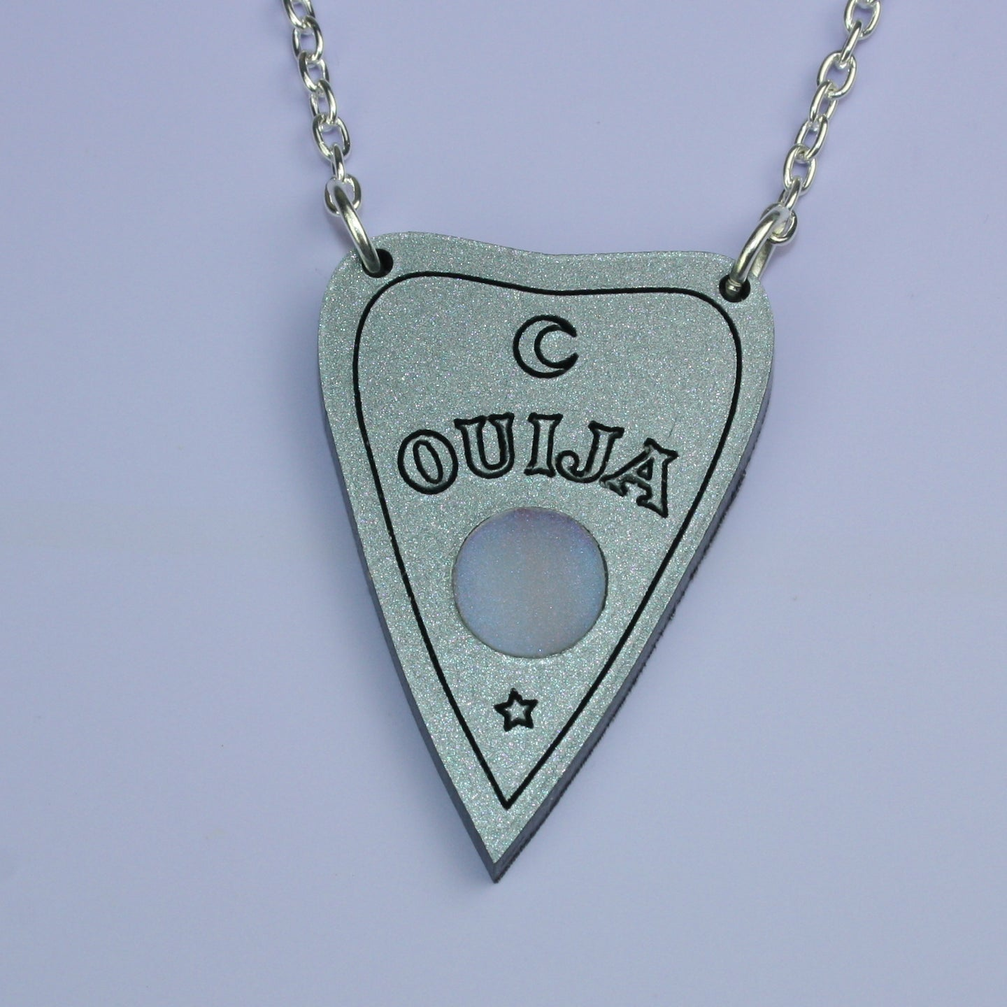 Silver Ouija Planchette Necklace