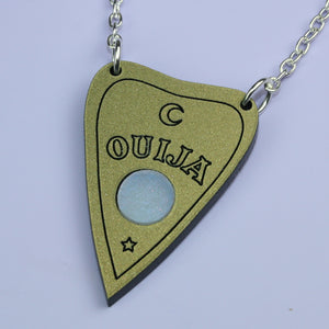 Gold Ouija Planchette Necklace