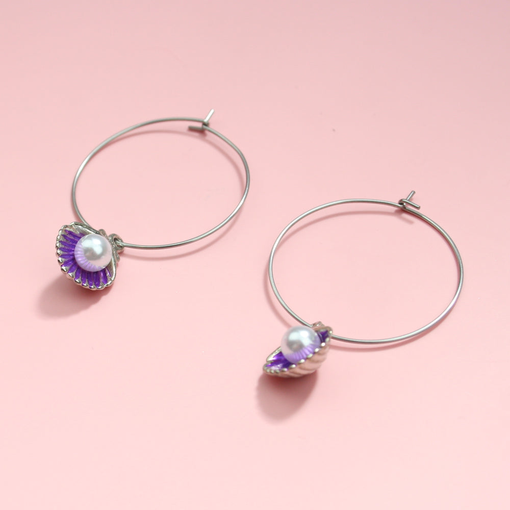 Load image into Gallery viewer, Beachy Keen Earrings (Purple)