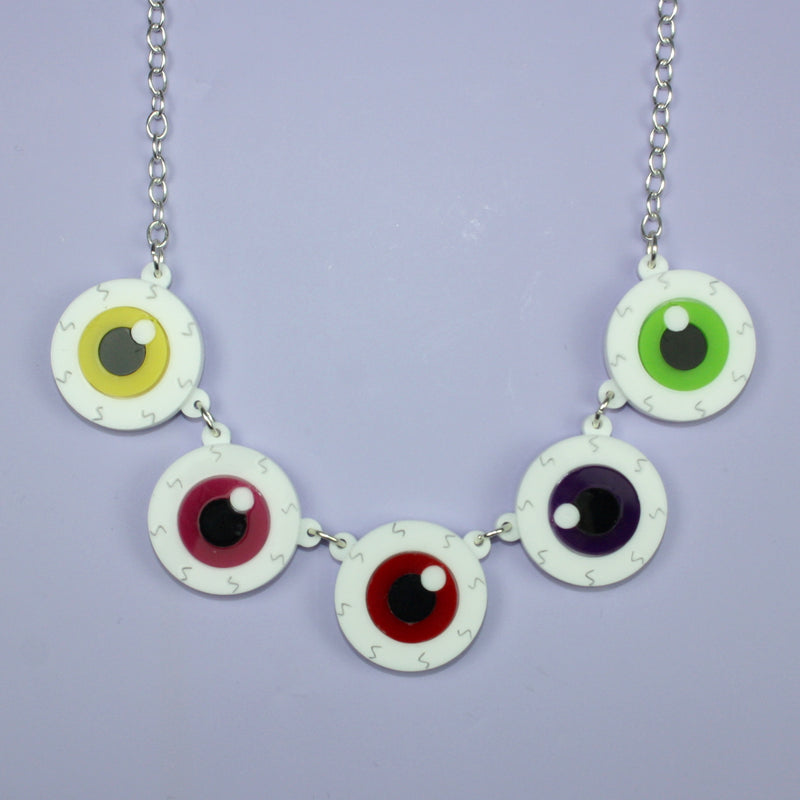 Eyeball Necklace - Sour Cherry