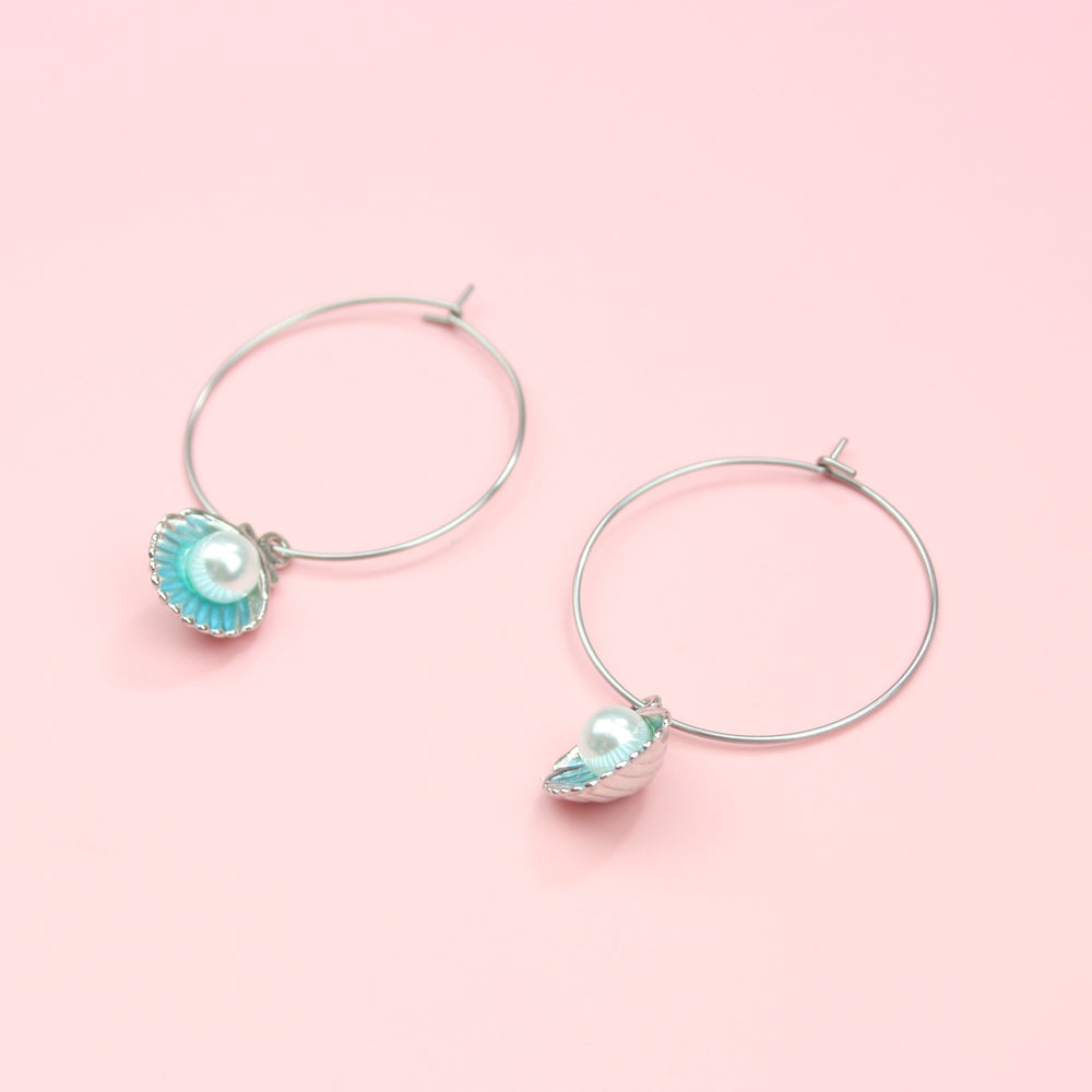 Load image into Gallery viewer, Beachy Keen Earrings (Blue)