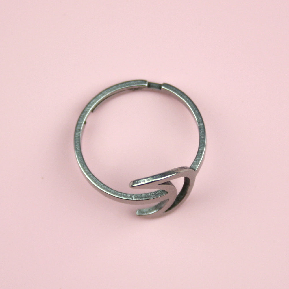 Cut Out Moon Ring