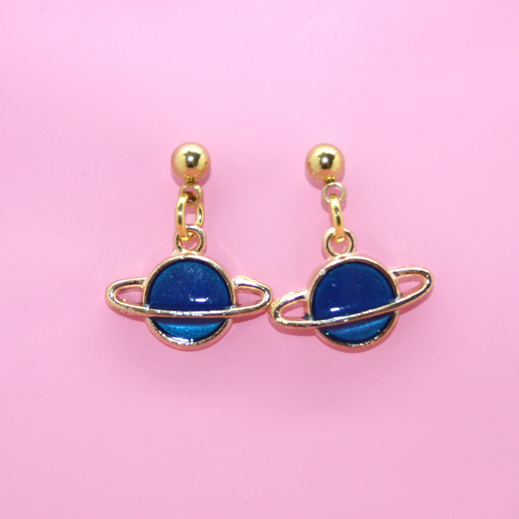Blue Planet Earrings - Sour Cherry