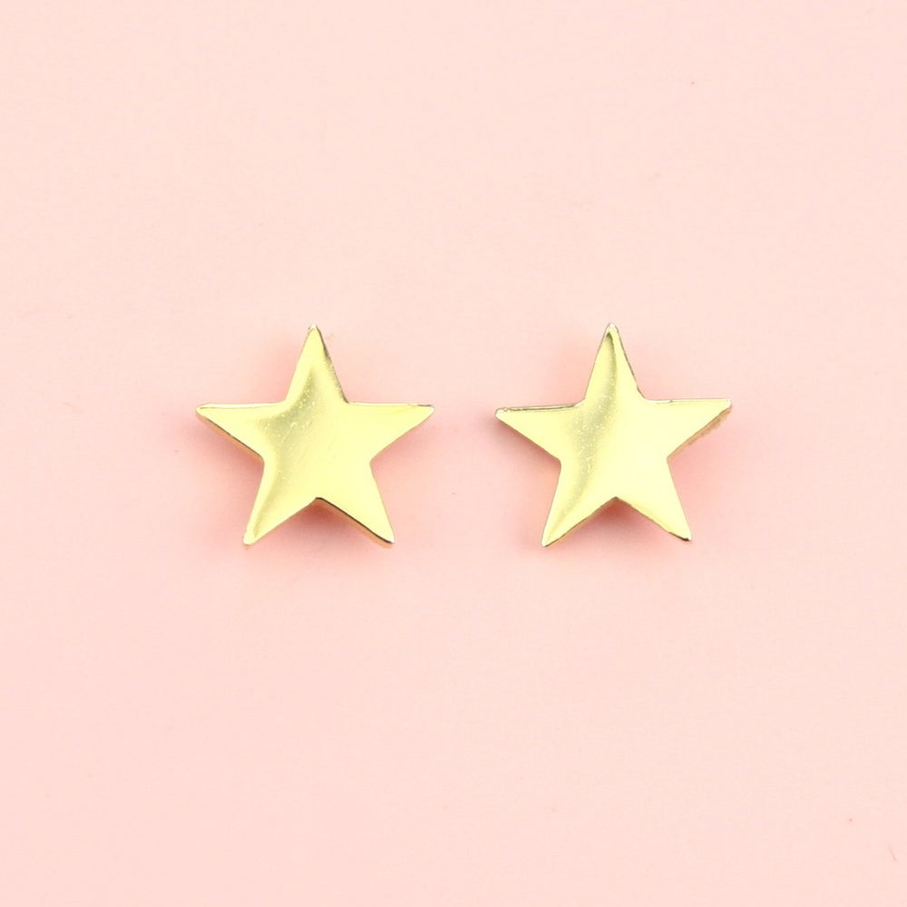 Star Stud Earrings (Gold Plated)
