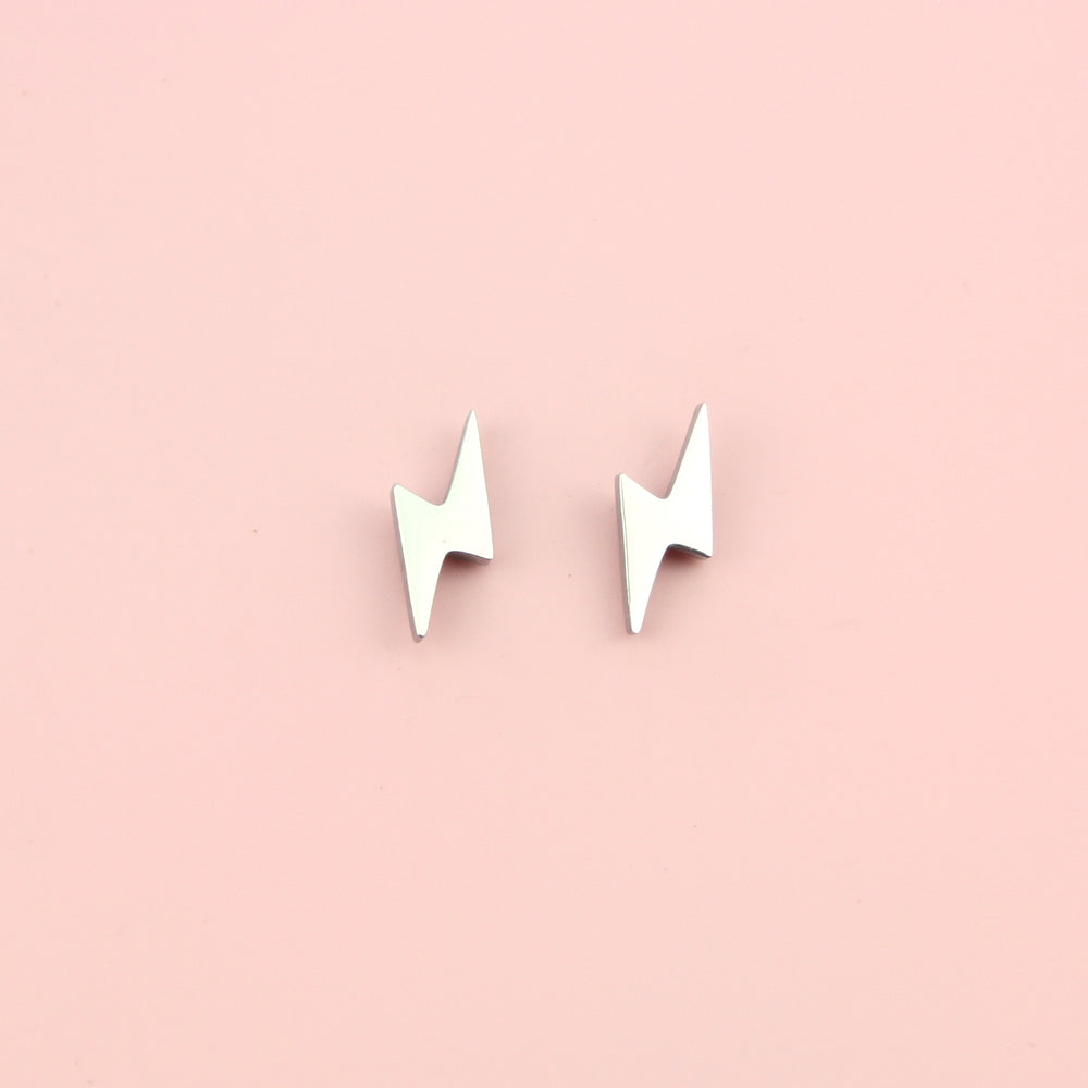 Load image into Gallery viewer, Lightning Stud Earrings (Stainless Steel)