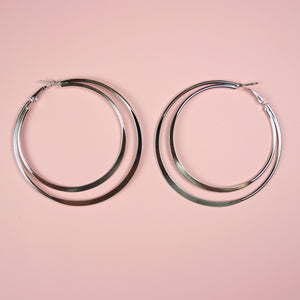 Double Hoop Earrings - Sour Cherry