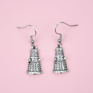 Dalek Earrings - Sour Cherry