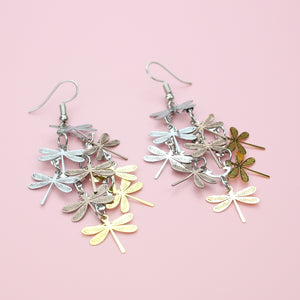 Multicolour Dragonfly Earrings - Sour Cherry