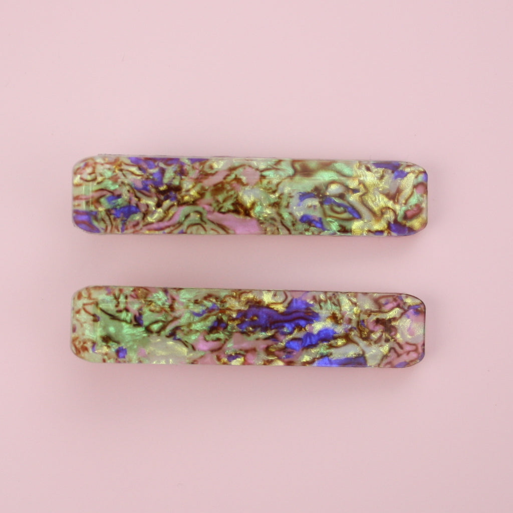 Abalone Hair Clips - Sour Cherry