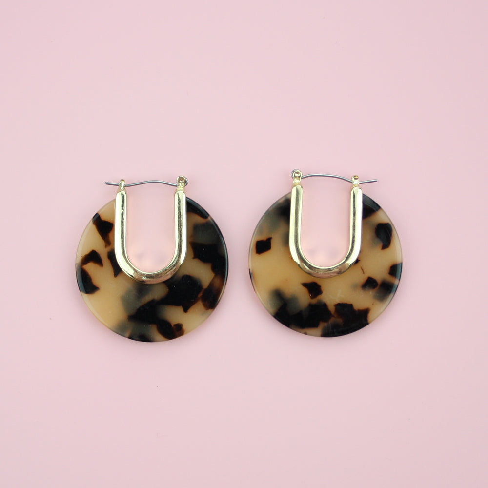 Chunky Resin Hoops (Tortoiseshell) - Sour Cherry