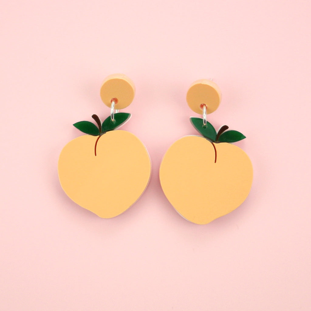Feeling Peachy Stud Earrings - Sour Cherry
