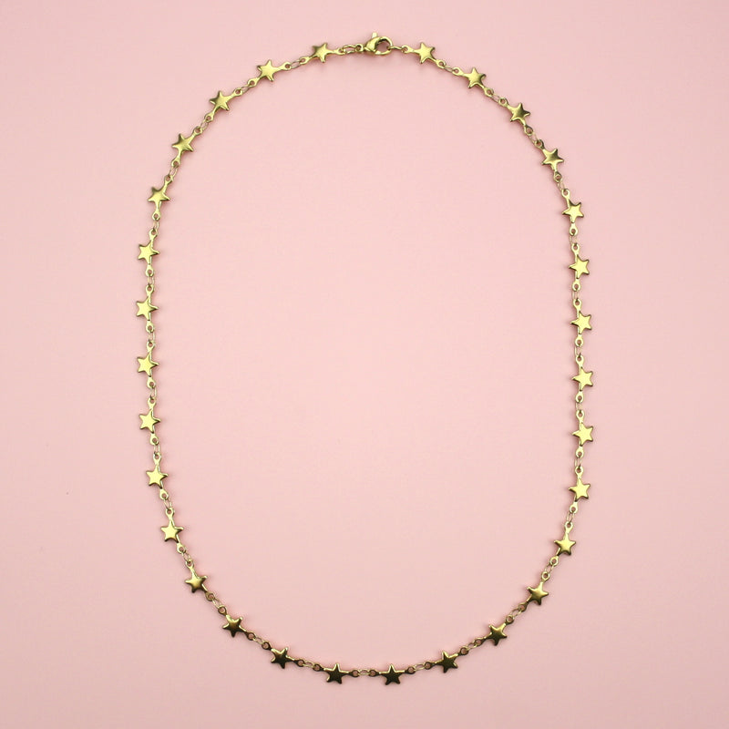 Star Necklace (Gold Plated) - Sour Cherry