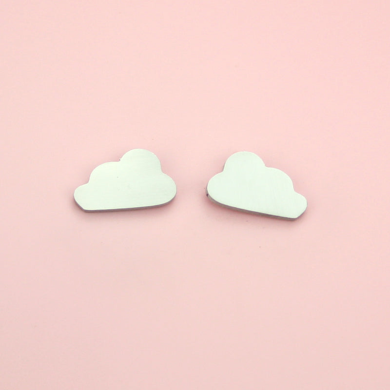 Cloud Stud Earrings - Sour Cherry