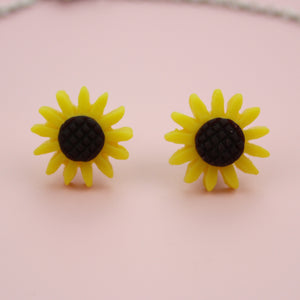 Sunflower Necklace & Earrings Set - Sour Cherry