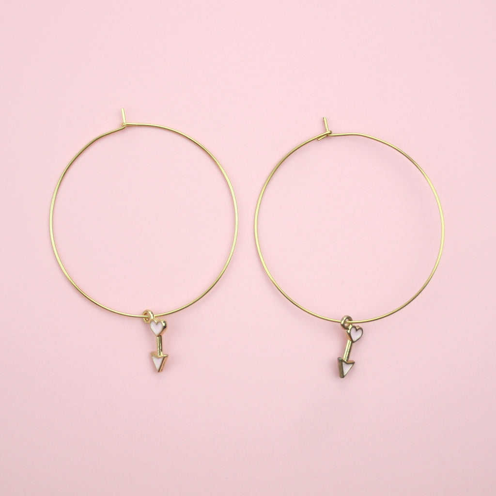 Cupid's Arrow Hoop Earrings
