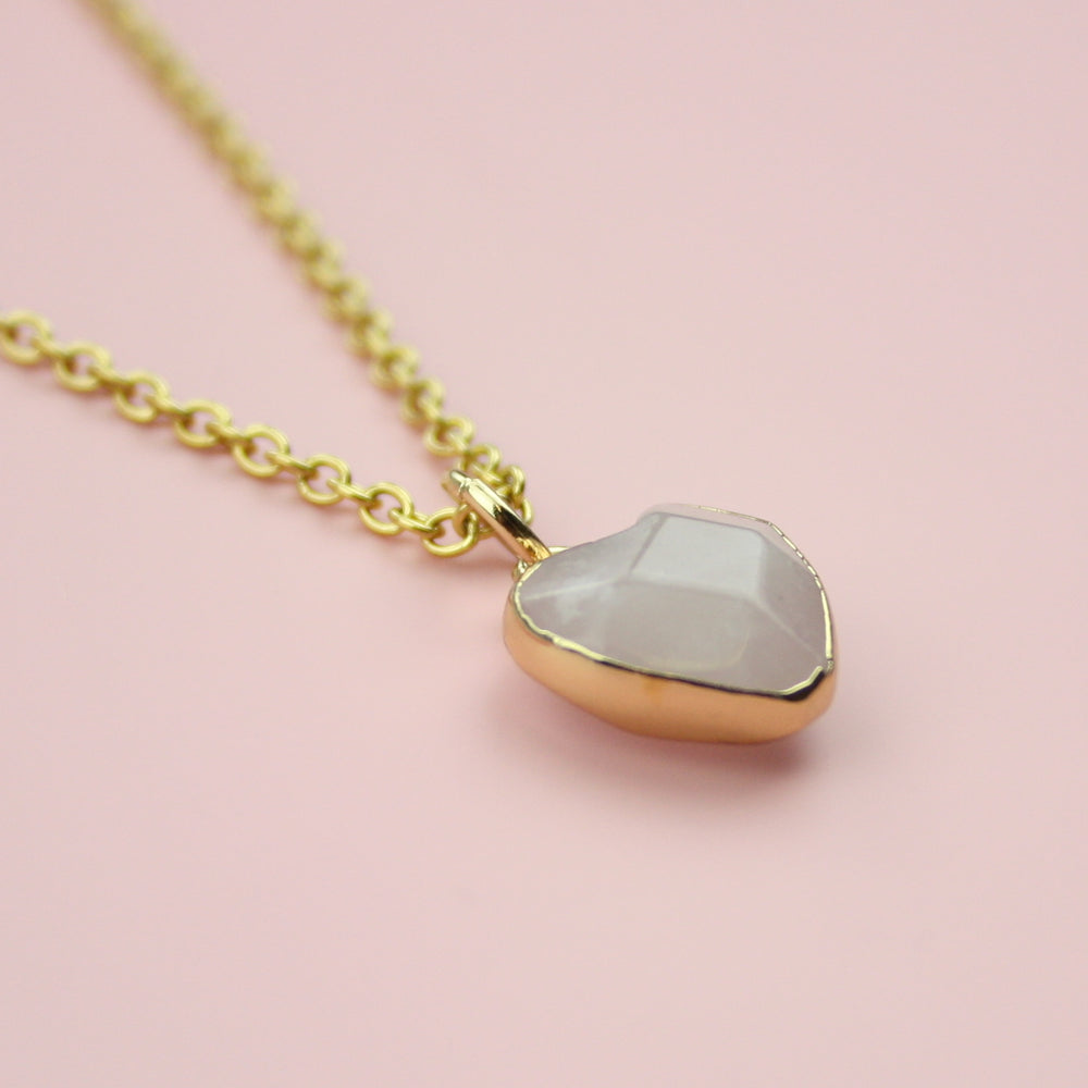 Load image into Gallery viewer, Rose Quartz Heart Necklace