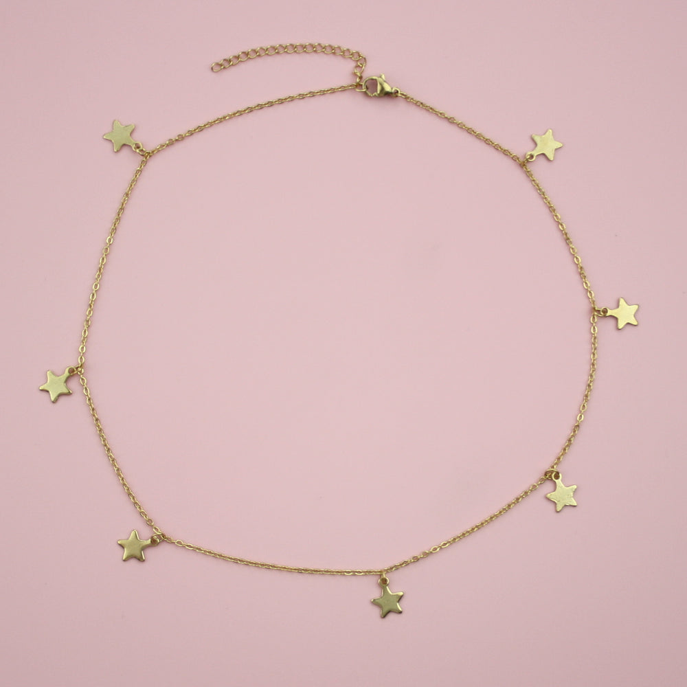 Starry Night Choker Necklace (Gold Plated)