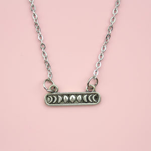 Moon Bar Necklace - Sour Cherry
