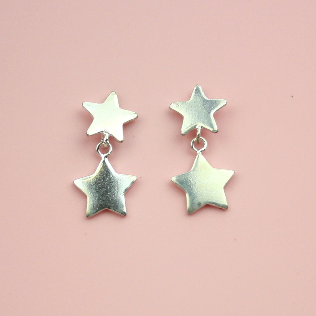 Catch a Falling Star Earrings (Sterling Silver)