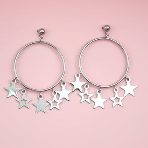 Starlight Hoop Stud Earrings