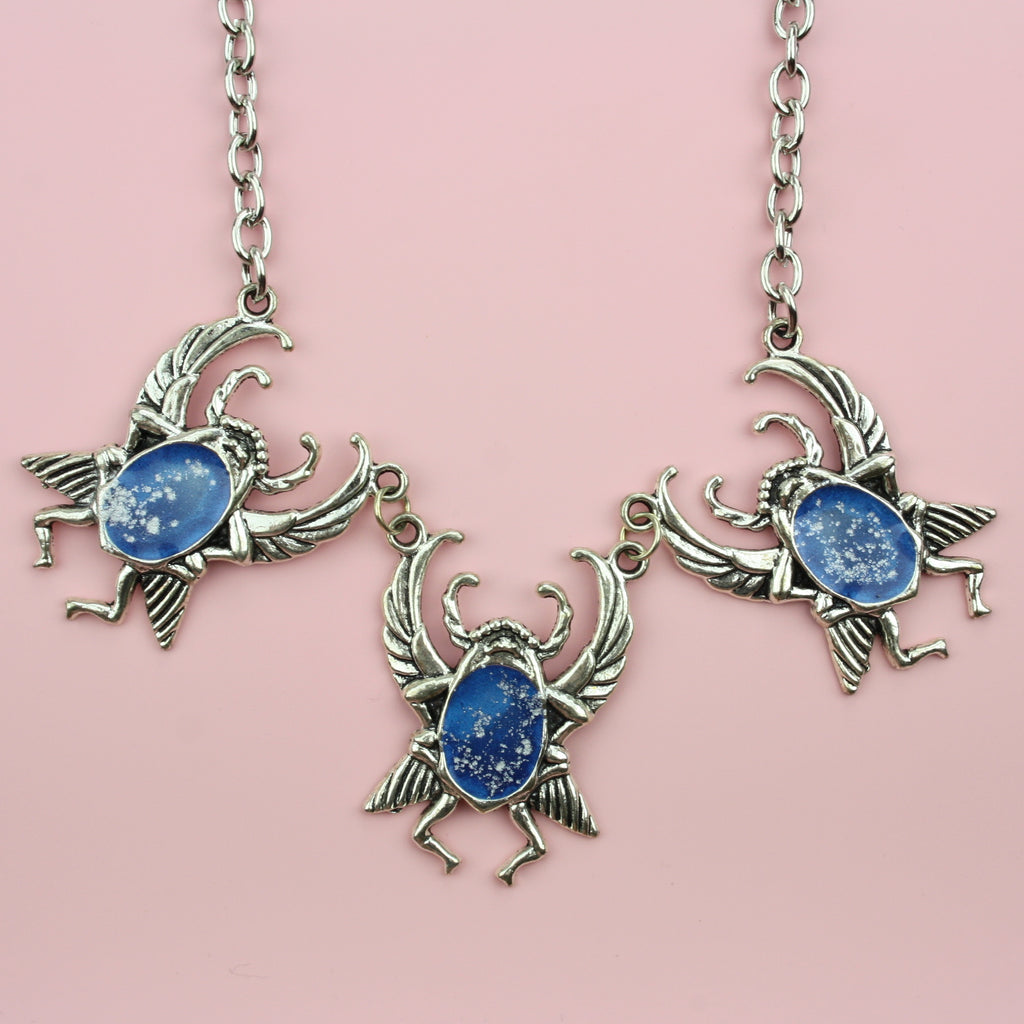 Beetle Necklace (Blue)