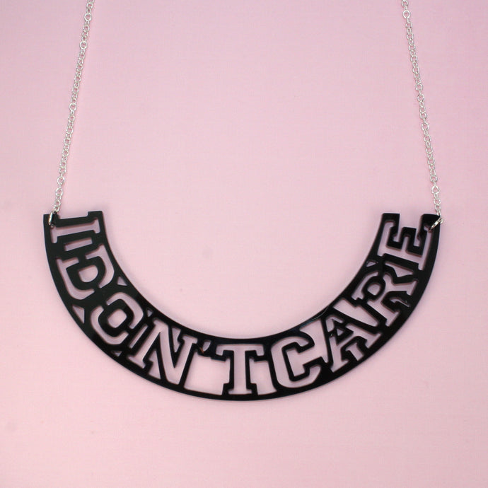 I Don't Care Collar Necklace