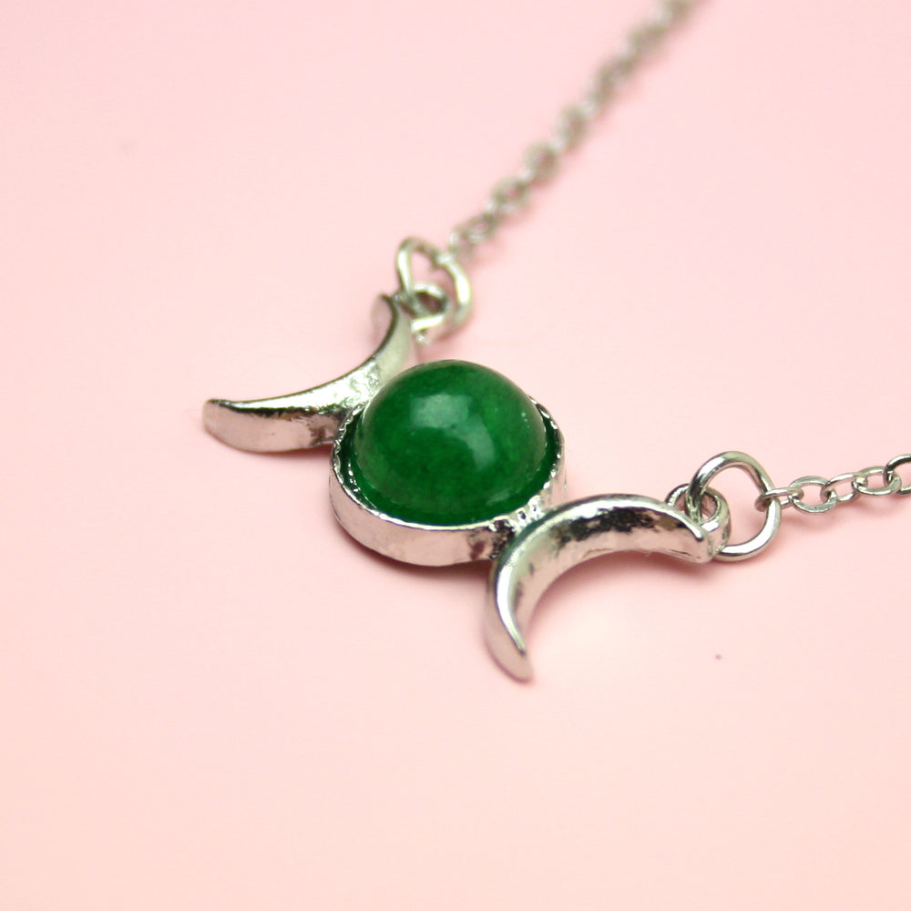 Load image into Gallery viewer, Jade Moon Necklace