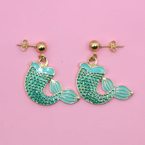 Mermaid Tail Earrings - Sour Cherry