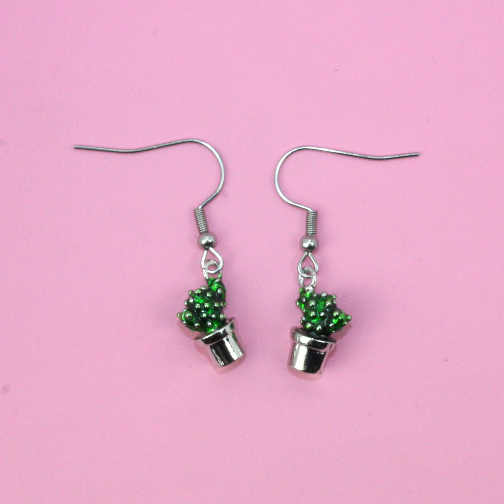 Mini Cacti Earrings - Sour Cherry