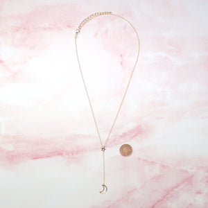 Moon Drop Necklace (Gold Plated)