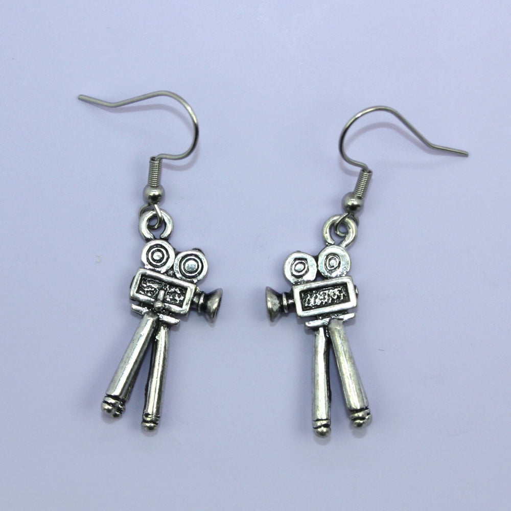 Movie Camera Earrings - Sour Cherry