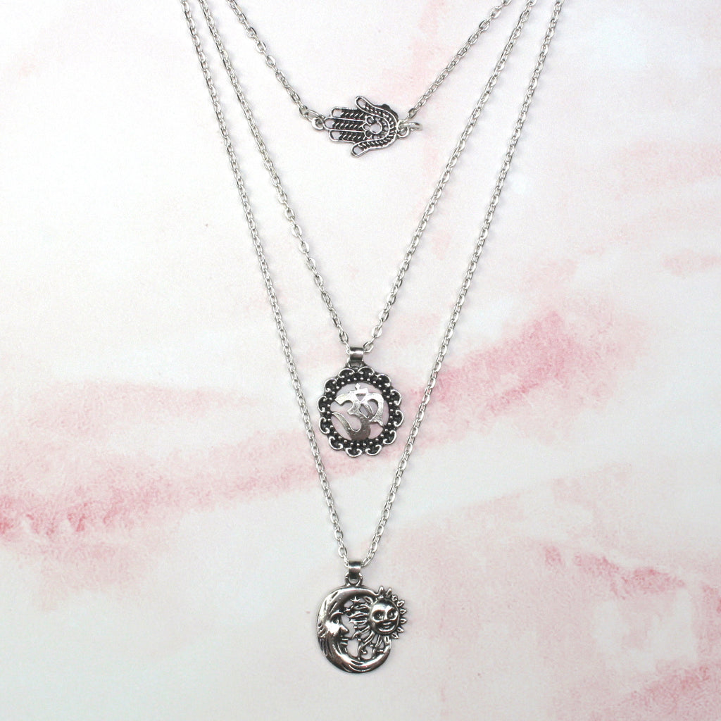 Om Layer Necklace
