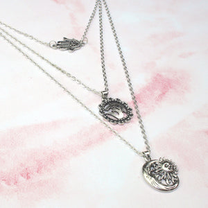 Om Layer Necklace - Sour Cherry
